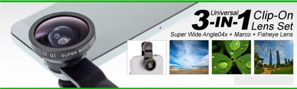 Universal 3 IN ONE Clip On Lens Set for Smart Phones  Super Wide Angle 0.4X  Marco Fisheye Lens.jpg