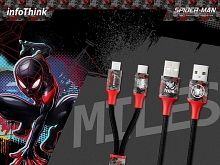 infoThink 2-in-1 Spider Man Series USB Cable - Miles