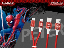 infoThink 2-in-1 Spider Man Series USB Cable - Peter