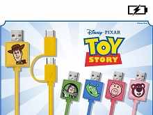 Toy Story Series 2-in-1 Type-C + microUSB Fast Charging Cable