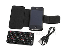 iPhone 4 Reclosable Fastener Case with Bluetooth Keyboard