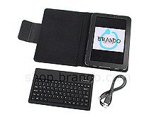 Samsung GT-P6810 Galaxy Tab 7.7 Reclosable Fastener Case with Bluetooth Keyboard