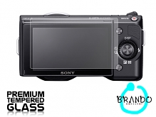 Brando Workshop Premium Tempered Glass Protector for Camera (Sony Alpha NEX-5)