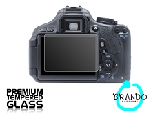 Brando Workshop Premium Tempered Glass Protector for Camera (Canon EOS 600D)