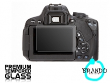 Brando Workshop Premium Tempered Glass Protector for Camera (Canon EOS 650D)
