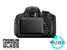 Brando Workshop Premium Tempered Glass Protector for Camera (Canon EOS 700D)