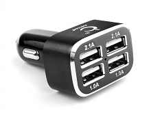 Quadruple USB Car Adapter - 6.2A