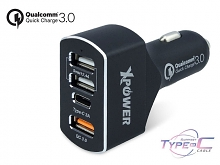 Xpower CC4QC 47W Quick Charge 3.0 Type-C Car Charger