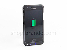 Samsung Galaxy SII EXTRA 2000mAh Battery Ultra Slim Case + 4-LED Power Level Indicator