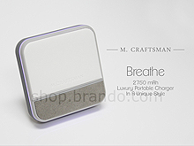 M.Craftsman Breathe - Luxury Portable Charger 2750mAh