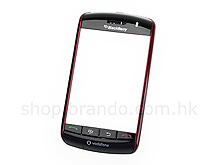 BlackBerry Storm 9500 Replacement Front Cover - Jujube Red