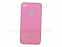 iPhone 4 Replacement Rear Panel - Pink With Black Frame