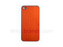iPhone 4 Metallic Rear Panel - Orange (Flat)