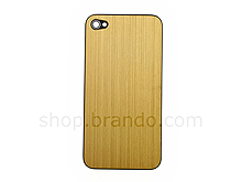 iPhone 4 Metallic PLAIN Rear Panel - Gold (Flat)