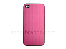 iPhone 4 Metallic PLAIN Rear Panel - Pink (Flat)