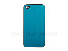 iPhone 4 Metallic PLAIN Rear Panel - Blue (Flat)