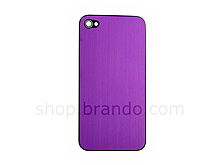 iPhone 4 Metallic PLAIN Rear Panel - Purple (Flat)