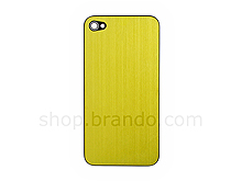 iPhone 4 Metallic PLAIN Rear Panel - Yellow (Flat)