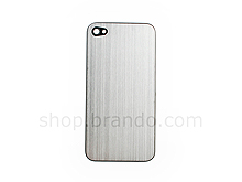 iPhone 4 Metallic PLAIN Rear Panel - Silver (Flat)