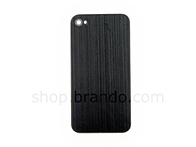 iPhone 4 Metallic PLAIN Rear Panel - Black (Flat)