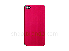 iPhone 4 Metallic PLAIN Rear Panel - Red (Flat)