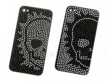 iPhone 4 BLING-BLING Skull Rear Panel