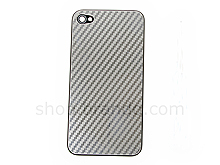 iPhone 4 Matellic Twilled Patterned Rear Panel