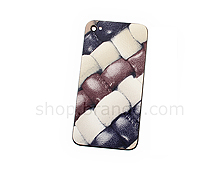 iPhone 4S Woven Leather Print Rear  Panel