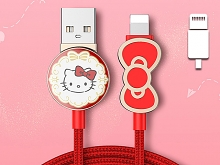 Hello Kitty Bow Lightning USB Cable