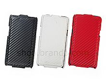 Samsung Galaxy S II Twilled Flip Top Leather Case