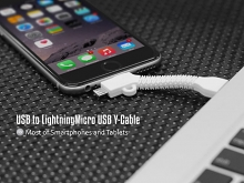 USB to Lightning/Micro USB Y-Cable