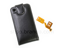 Dual Sim Protective Leather Case for iPhone 3G/3GS