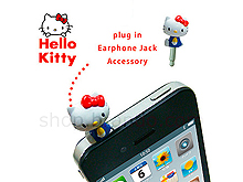 Plug-in 3.5mm Earphone Jack Accessory - Hello Kitty