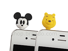 Plug-in 3.5mm Earphone Jack Accessory - Mickey and Pooh