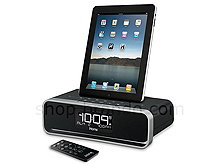 app enhanced dual alarm stereo clock radio for iphone ipod ipad. Black Bedroom Furniture Sets. Home Design Ideas