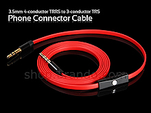 3.5mm 4-conductor TRRS to 3-conductor TRS Phone Connector Cable