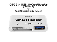 OTG 3 in 1 USB 3.0 Card Reader for Samsung Galaxy Note 3 (Model OT-9)