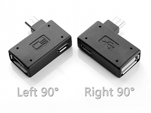 MicroUSB OTG Adapter with MicroUSB External Power Supply (Horizontal 90°)