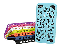 iPhone 4 Perforated Seashells Back Case