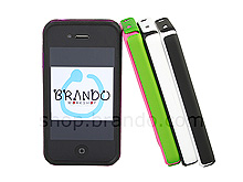 iPhone 4 Dual Color Hard Case with Rubber Lining