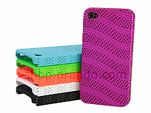 iPhone 4 Perforated Wave Back Case