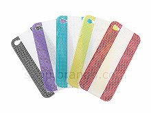 iPhone 4 Perforated White Stripe Plastic Back Case