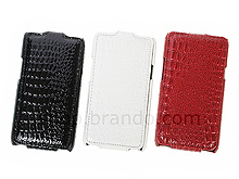 Samsung Galaxy S II Crocodile Flip Top Leather Case
