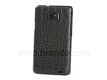 Samsung Galaxy S II Crocodile Leather Back Case