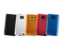 Samsung Galaxy S II Glossy Metal Back Cover w/ Rubber Lining