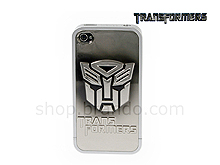 iPhone 4 Transformers - Convex Autobots SILVER-BLACK METALLIC Phone Case (Limited Edition)