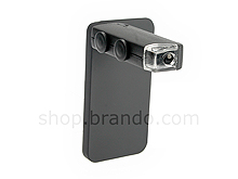 iPhone 4/4S 60X-100X Magnifying Microscope with Back Cover and Brightness LED
