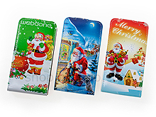 Samsung Galaxy S II Christmas Santa Claus Flip-Top Leather Case