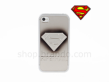 iPhone 4/4S Superman - Superman SILVER-BLACK METALLIC Logo Phone Case (Limited Edition)