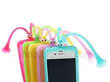 iPhone 4/4S Soft Silicone Suction Grasshopper Back Case